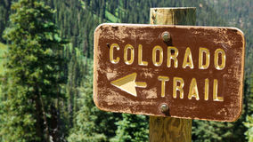 Colorado Trail Sign Royalty Free Stock Photography