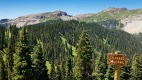 Colorado Trail Sign Royalty Free Stock Photos