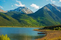 Colorado Twin Lakes Stock Images