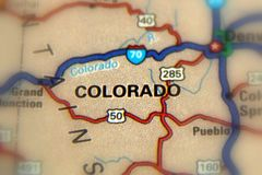 Colorado - United States U.S. Colorado, a state of the United States Royalty Free Stock Photos