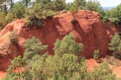 Colorado van Rustrel - de Provence Stock Foto's