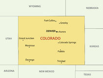 Colorado - vector map of US state Royalty Free Stock Photography