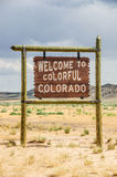 Colorado Welcome Sign Royalty Free Stock Photography
