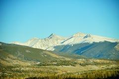 Colorado mountain. Colorado winter landscape: mountain and the highway Royalty Free Stock Photo