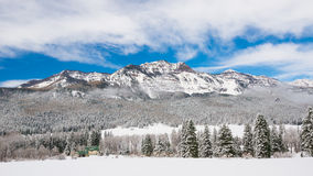 Colorado Winter Mountains. A picture taken in the Colorado mountains right after a snow storm Stock Photography