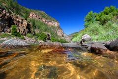 Coloradofloden i den Glenwood kanjonen Royaltyfria Bilder