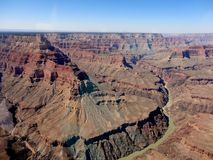 Coloradofloden i Grand Canyon Royaltyfria Foton