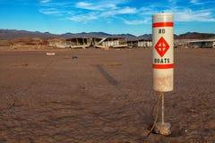 Coloradofloden och sjö Mead Drought Water Level Fotografering för Bildbyråer