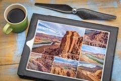 Coloradoflodenkanjonflygfotografering Fotografering för Bildbyråer