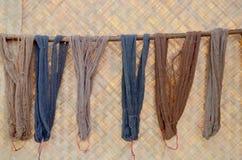 Colorant coloré de soies de fil de couleur naturelle Photo libre de droits