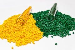 Colorant polymère Colorant pour des plastiques Colorant dans les granules Images stock