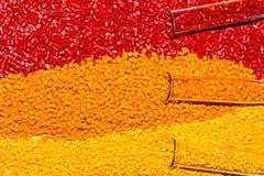 Colorant polymère Colorant pour des plastiques Colorant dans les granules Photo libre de droits