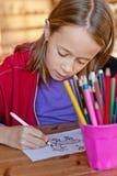 Colorante de la chica joven Foto de archivo