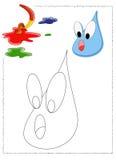 Colorante de la gota de agua Imagen de archivo