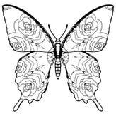 Colorante de la mariposa para los niños y los adultos por momentos de relajación Fotografía de archivo libre de regalías