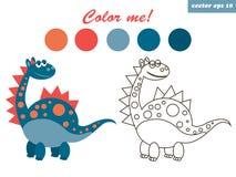 colorante del dinosaurio libre illustration