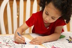 Colorante del niño Fotos de archivo