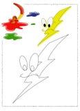 Colorante del relámpago Imágenes de archivo libres de regalías