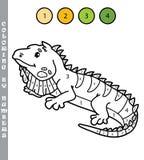 Colorante divertido por el juego de números Foto de archivo