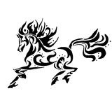 Colorante negro del caballo ilustración del vector