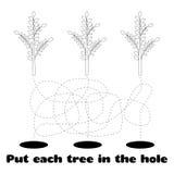 Colorante para los niños con los árboles Imágenes de archivo libres de regalías