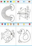 Colorante por números. Sistema 4 Foto de archivo