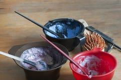 Coloranti per capelli Fotografie Stock Libere da Diritti