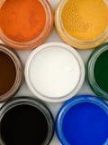 Colorants de poudre Images stock