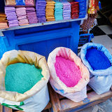 Colorants for sale in Chefchaouen Stock Image