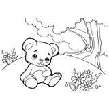 A coloração dos desenhos animados do urso pagina o vetor Foto de Stock