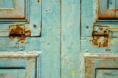 Colorated dow door in lanzarote spain Royalty Free Stock Images