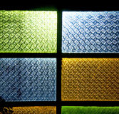 Colorated glass and  morocco africa window and light Royalty Free Stock Photo