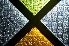 Colorated glass and sun   light Royalty Free Stock Photos