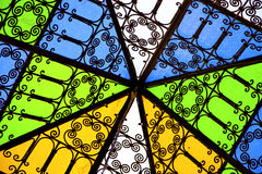 Colorated glass and sun Royalty Free Stock Photo