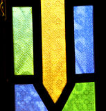 Colorated glass and      sun in morocco africa window and light Stock Images