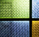 Colorated glass    and sun in morocco africa window and light Royalty Free Stock Photography