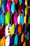 Colorated moroccan shoes Stock Photos