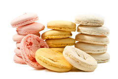Colorated waffles for macarons Stock Images