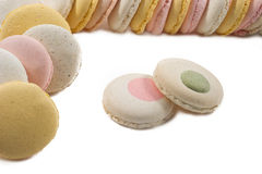 Colorated waffles for macarons Stock Photography