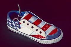 Coloration américaine d'espadrille Images libres de droits