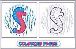 Coloration d'hippocampe Photo libre de droits