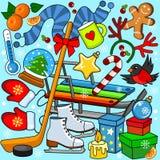 Coloration d'hiver pour des enfants Photo libre de droits