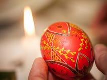 Coloration d'oeuf de pâques d'Ukrainien de Psanky Image libre de droits