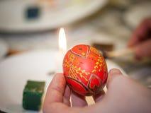 Coloration d'oeuf de pâques d'Ukrainien de Psanky Image stock