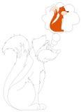 Coloration d'une séance de crabot Photographie stock libre de droits