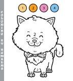 Coloration de chaton par des nombres Images stock