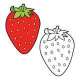 Coloration de fraise de bande dessinée Photos libres de droits