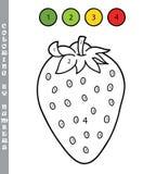 Coloration de fraise de bande dessinée par des nombres Image libre de droits