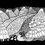 Coloration de haute qualité de montagne et de forêt pour l'adulte Photographie stock libre de droits