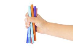 Coloration de main d'enfant Photo libre de droits